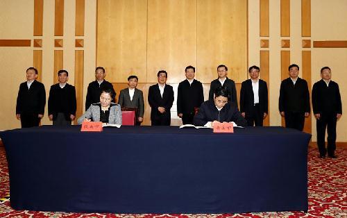 天津市与我省,青岛市与陇南市分别签署东西部扶贫协作
